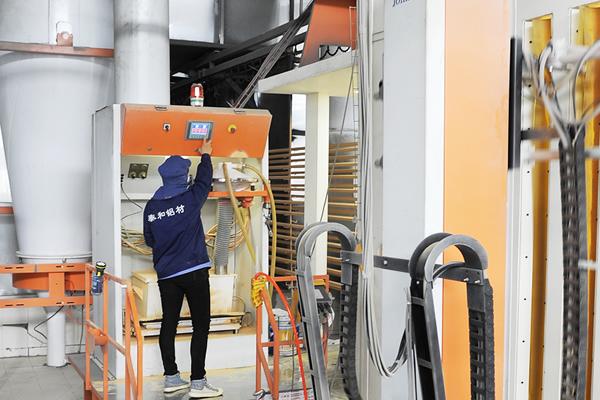 郑州泰和铝材厂粉末喷涂线